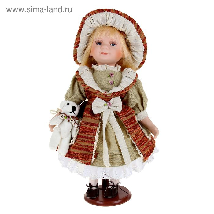 """Кукла коллекционная """"Наташка с мишкой"""""""