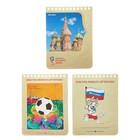 Блокнот А6, 40 листов на гребне «Чемпионат мира по футболу 2018. Москва», мелованный картон