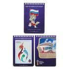Блокнот А6, 40 листов на гребне «Чемпионат мира по футболу 2018. Саранск», мелованный картон