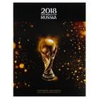Тетрадь А5, 240 листов на кольцах «ЧМ по футболу 2018. Золотой кубок», твёрдая обложка