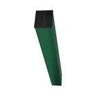 Столб, 60 × 40 × 1.2 мм, под бетон, зелёный