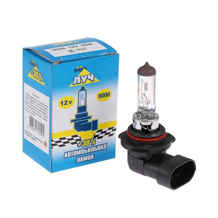 Лампа автомобильная Луч, НВ4/9006, 12 В, 55 Вт