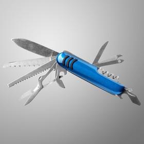 Нож швейцарский Мастер К 11в1, синий в Донецке