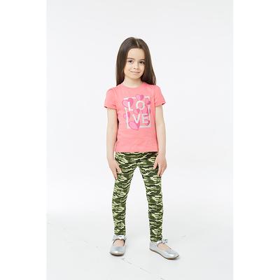 Брюки для девочки, рост 110 см, цвет камуфляж