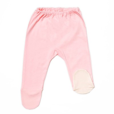 Ползунки детские, рост 74 см, цвет розовый/молочный