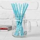 """Трубочки для коктейля """"Горох"""", цвет аквамарин (набор 12 шт.)"""