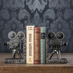 """Держатели для книг """"Кинокамера"""" набор 2 штуки 18х13х11 см"""