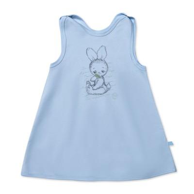 Платье-сарафан для девочки, рост 80 см, цвет голубой