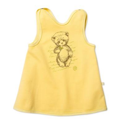 Платье-сарафан для девочки, рост 80 см, цвет жёлтый MP022103F80_М