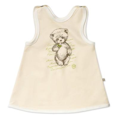 Платье-сарафан для девочки, рост 80 см, цвет молочный MP022103F80_М