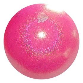 Мяч гимнастический PASTORELLI New Generation GLITTER, 18 см, FIG, цвет розовый флуоресцентный HV