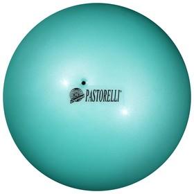 Мяч гимнастический Pastorelli New Generation, 18 см, FIG, цвет малайзийское море