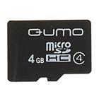 Карта памяти microSDHC Qumo 4 Гб class 4