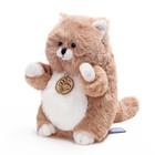 """Мягкая игрушка """"Толстый кот"""", светло-коричневый, 16 см"""