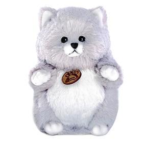 Мягкая игрушка «Толстый кот», цвет серый, 16 см