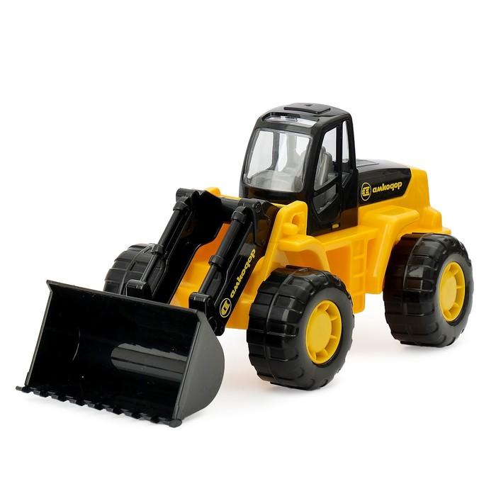 """Трактор - погрузчик """"Умелец"""", цвета МИКС"""