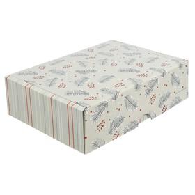 Коробка складная «Ёлочки», 30,7 х 22 х 9,5 см Ош
