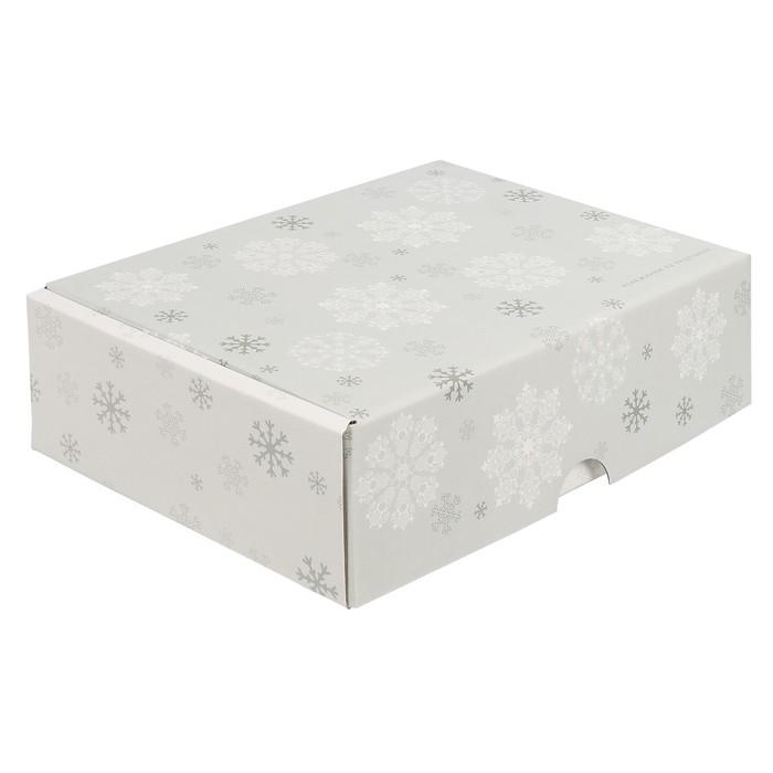 Складная коробка «Снежинки на ладошках», 30,7 х 22 х 9,5 см