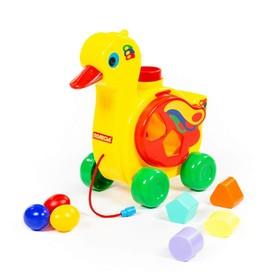Игрушка-каталка с сортером «Уточка-несушка»