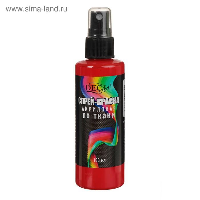 Спрей-краска акриловая по ткани 100мл DecArt Красная (морозостойкая)