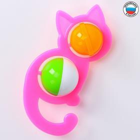 Погремушка «Кошечка», цвета МИКС