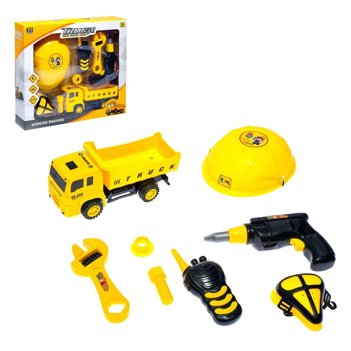Набор инструментов «Строитель на грузовике», 8 предметов