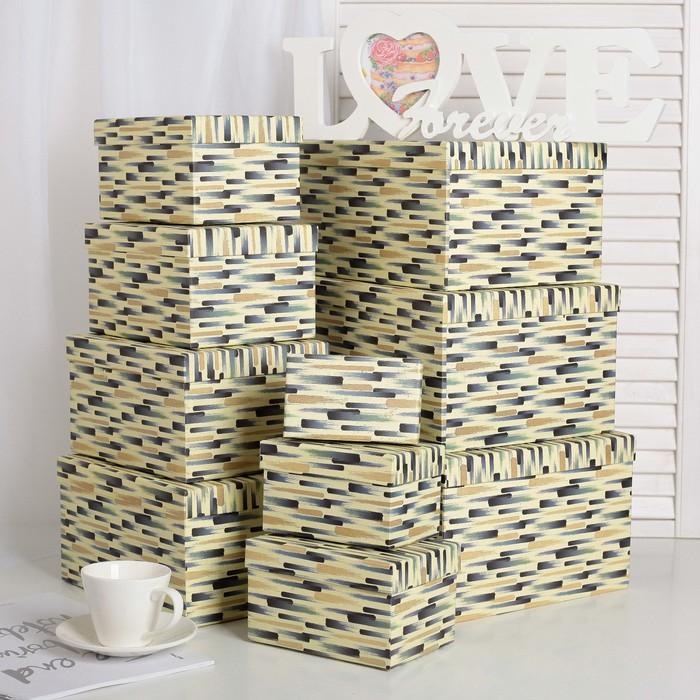 Набор коробок 10в1, 30,5 х 25,5 х 16,5 - 12,5 х 7,5 х 7,5 см