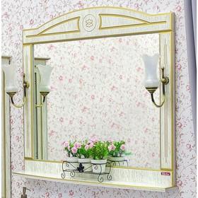 Зеркало Адель 100 белый/патина золото