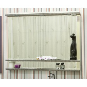 Зеркало Румба 120 венге/патина серебро