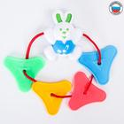 Подвеска-погремушка «Цепочка с зайчиком», цвета МИКС