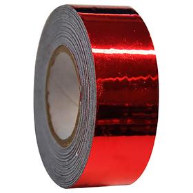 Обмотка для гимнастических булав и обручей New VERSAILLES с эффектом зеркального отражения, цвет красный