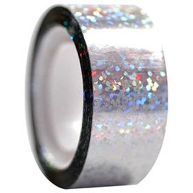 Обмотка для гимнастических булав и обручей Diamond клейкая, цвет серебряный металлик