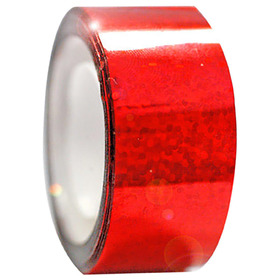 Tape for gymnastic clubs and hoops Diamond adhesive, red metallic.