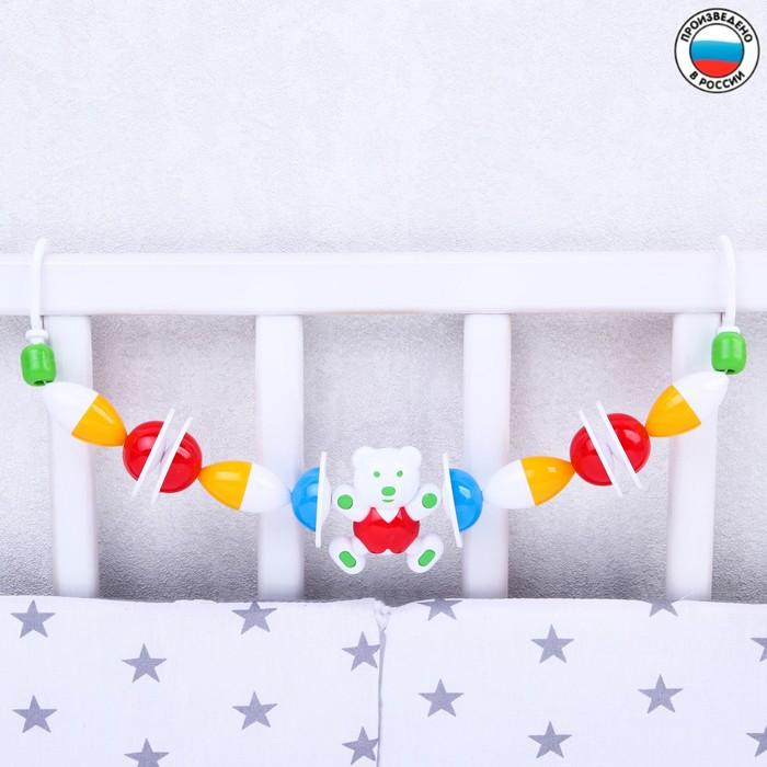 Растяжка на коляску/кроватку «Русский лес», цвет МИКС - фото 106526920