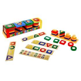 Игрушка «Цветные столбики»
