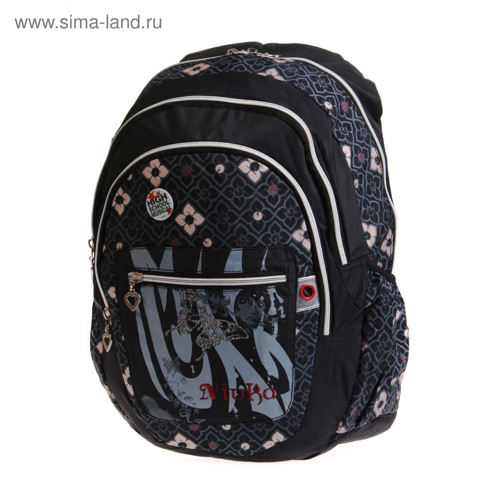 56d67df301ee Рюкзак, размер 16,5х44 см, K05NK033 чёрный, серый (3721746) - Купить ...