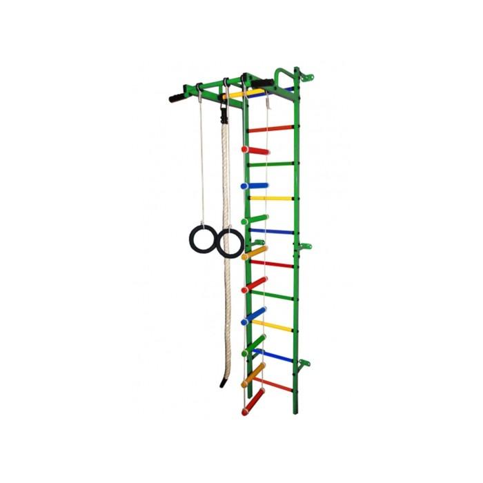 ДСК «Карапуз-5А Плюс», 730 × 395 × 2260 мм, цвет зелёный/радуга