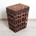 Корзина для белья плетеная прямоугольная 32×23×44 см