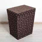 Корзина для белья плетеная прямоугольная 38×30×48 см