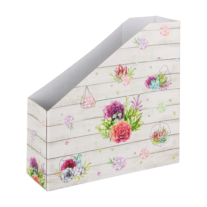 Органайзер для скрап бумаги «Суккуленты», 31 х 31 х 9,5 см