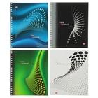 Тетрадь 48 листов клетка на гребне Color Notebook, мелованный картон, выборочный лак, микс