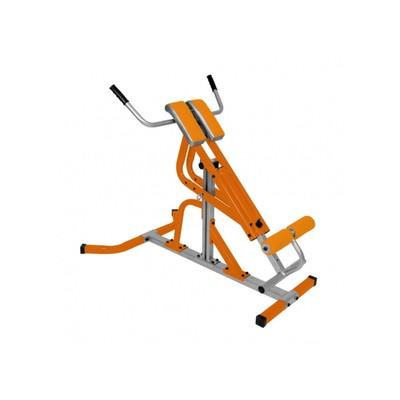 Гиперэкстензия Эстетика оранжевый-серебристый