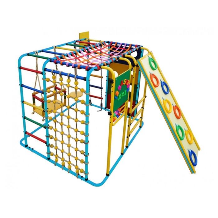 ДСК «Кубик У Плюс» напольный для дома и улицы, 1210 × 1210 × 1150 мм, цвет голубой/радуга