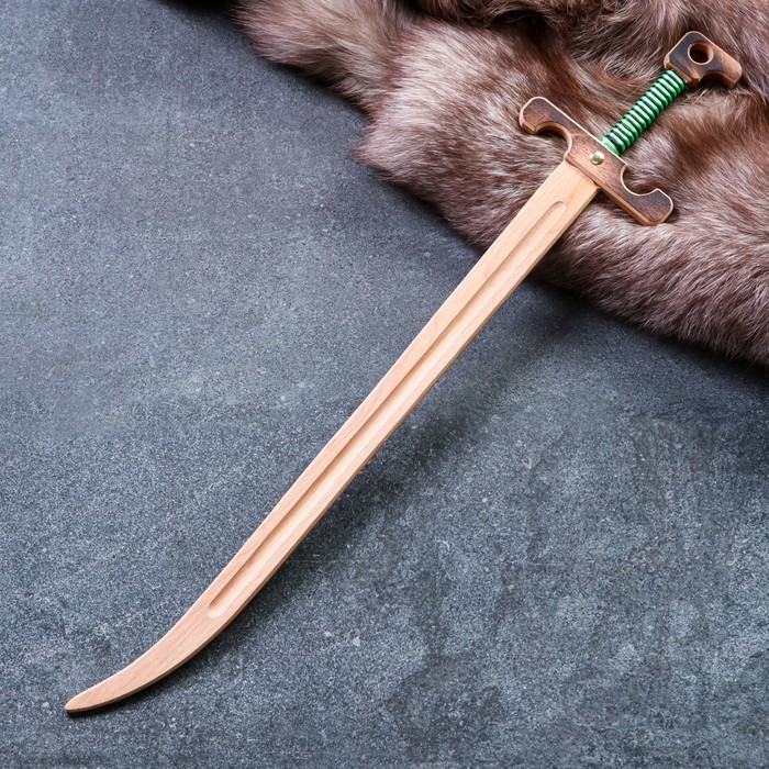 """Сувенир деревянный """"Сабля воеводы"""", массив бука, 65 см, микс"""