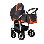 Детская коляска 2 в 1 Lika, цвет оранжево- серый