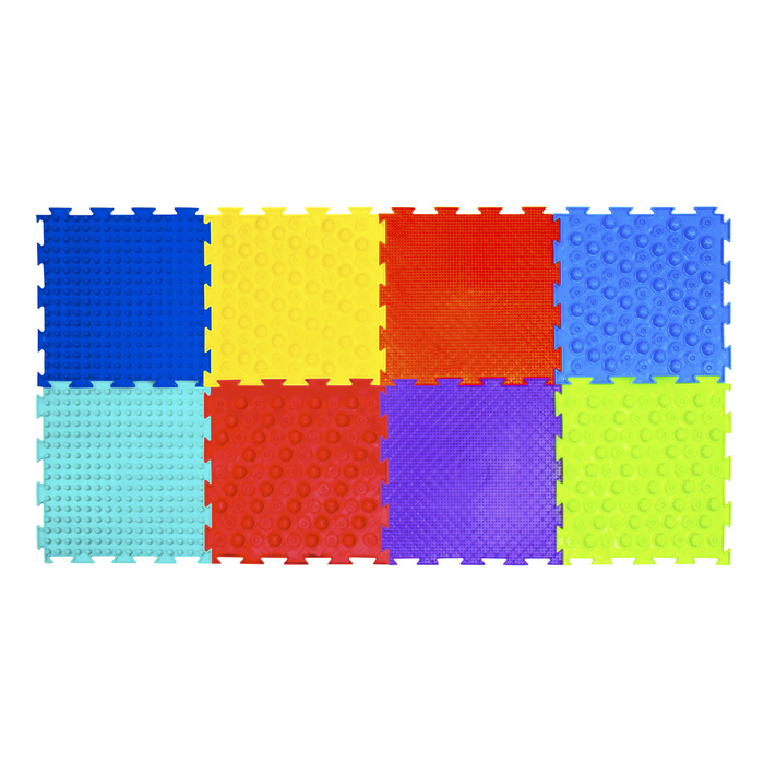 Массажный коврик - пазл модульный «Орто», 8 модулей, набор «Акупунктурный», МИКС