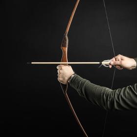 """Сувенирное деревянное оружие """"Лук спортивный"""", подростковый, коричневый, массив ясеня, 120 см"""