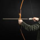 """Лук деревянный, взрослый """"Фигурный"""", коричневый, массив ясеня, 180 см"""