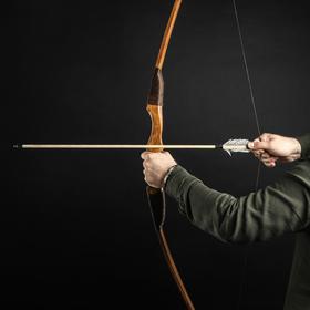 """Лук деревянный, взрослый """"Фигурный"""", коричневый, массив ясеня, 170 см"""