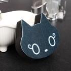 """Губка для мытья посуды со скрабером 10х9х3 см """"Кот"""""""